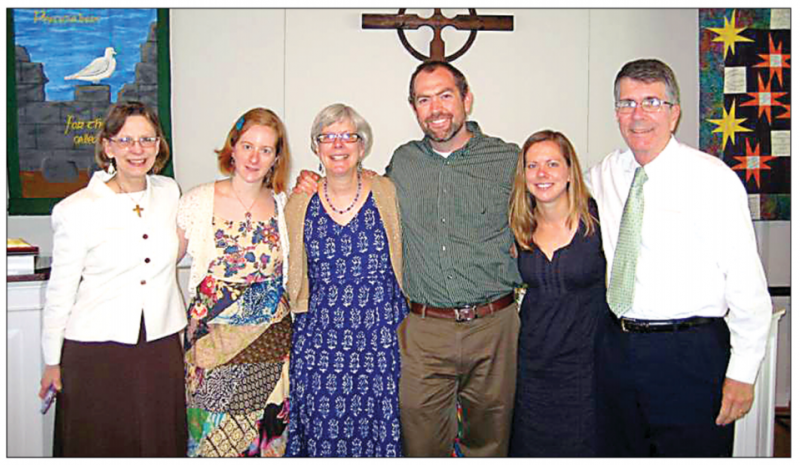 Rev Dr Ann Held (3rd from left) with family at her retirement gathering