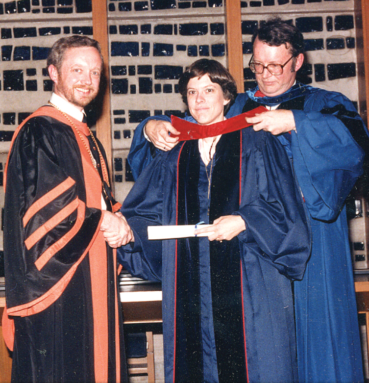 Ann in 1978 graduating from Louisville Presbyterian Theological Seminary.