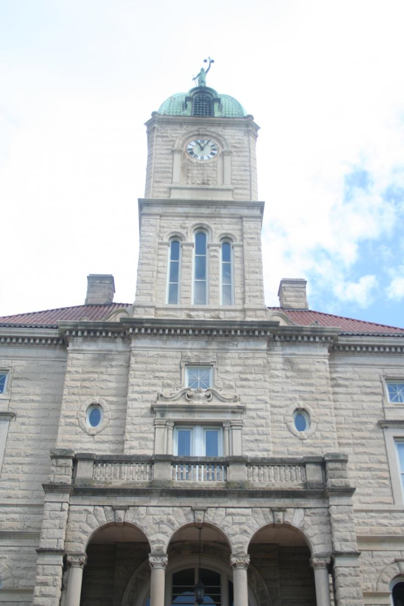 The courts are another major component of the system. The Rockingham County Courthouse occupies Court Square at the very center of Harrisonburg.