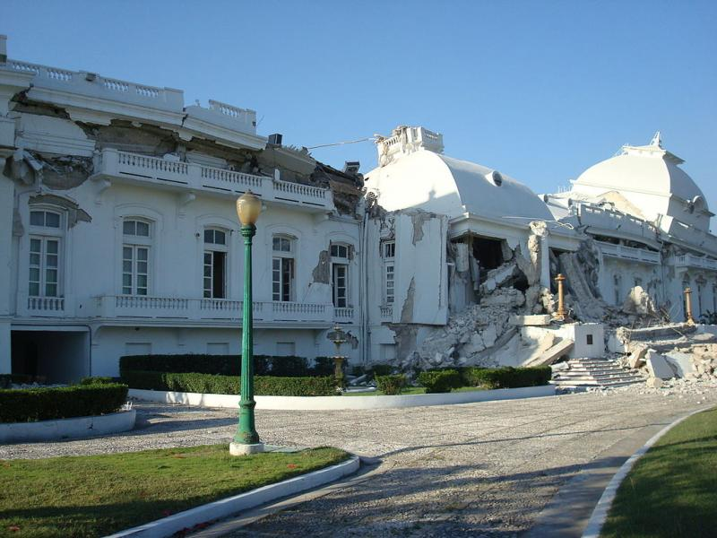 National Palace damage in 2010.