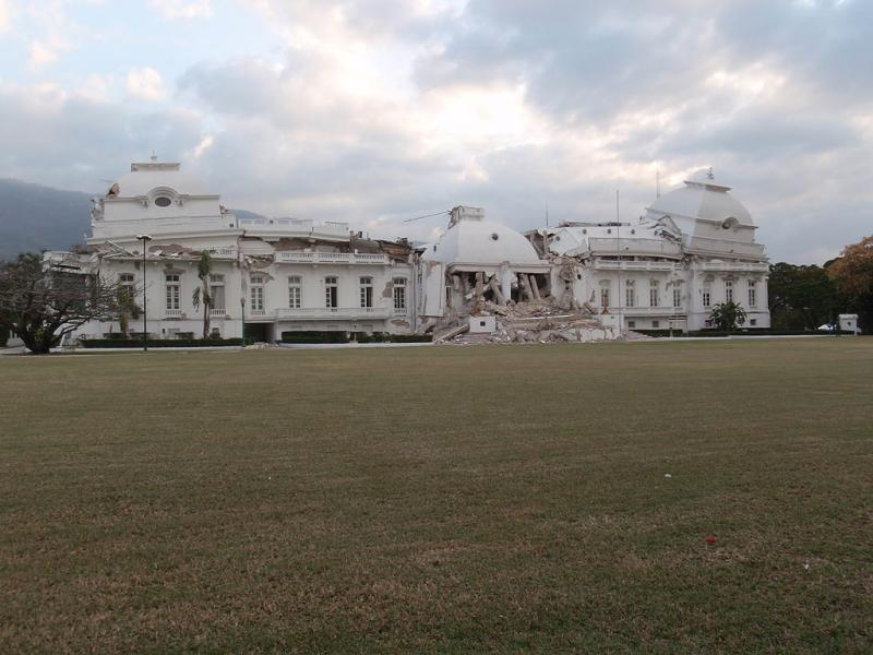 National Palace (Palais National) in Port-au-Prince, Haiti, 2010.
