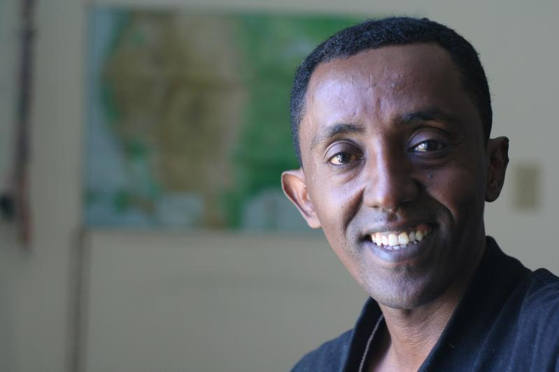 Originally from Eritrea, Leul Yohannes has lived in the U. S. for five years, the last three in Harrisonburg. He has a wife and two children, the youngest of whom was born here and is already a citizen. He plans to apply for citizenship in early 2015.