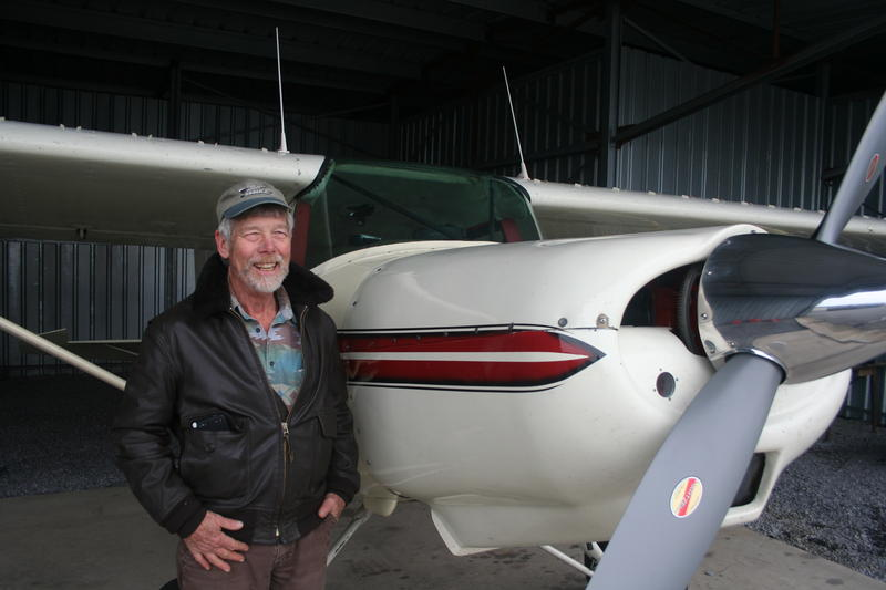 Michael Godfrey, beside his 1985 M7 Maule named Annie May, is one of four pilots with the Pipeline Air Force. Godfrey has been flying above the proposed Atlantic Coast Pipeline route to document the places he says would be irreparably harmed.