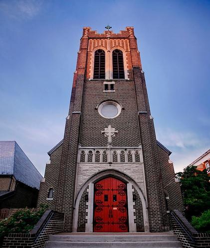 The Blessed Sacrament Catholic Church, downtown Harrisonburg