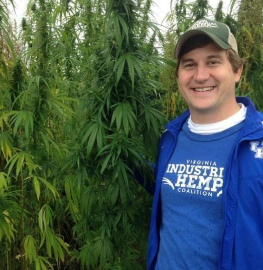 Chase Milner of the Virginia Industrial Hemp Coalition, during a visit last year to a hemp field in Kentucky, where the crop is already being grown for reasearch.