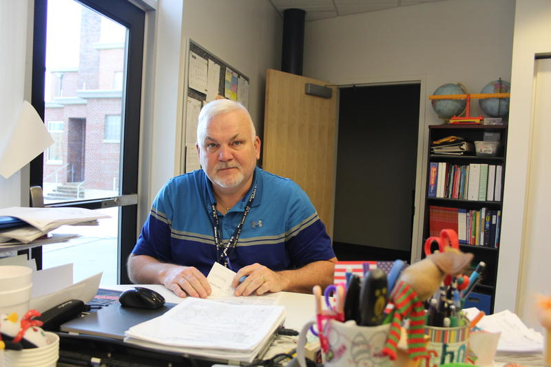 Buckingham County Supervisor Donnie Bryan, pictured in his classroom, hopes the pipeline will offer his community opportunity for new economic growth.