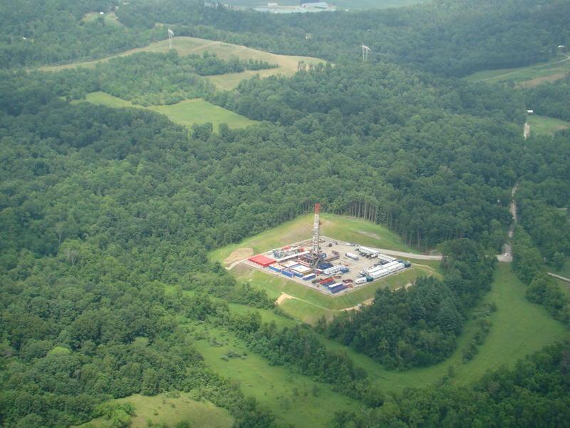 A Carrizo drilling pad in the Utica shale in Ohio.