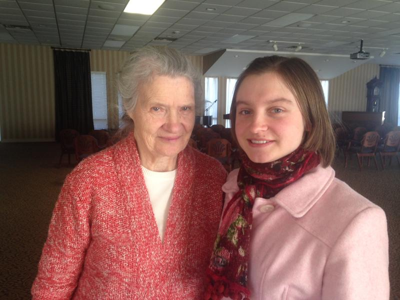 Natalya Slascheva, left, and her granddaughter Lyubov Slascheva. Their family came to the Shenandoah Valley from Kazakhstan in the late '90s. Lyubov is now studying to become a dentist; Natalya lives at the VMRC in Harrisonburg.
