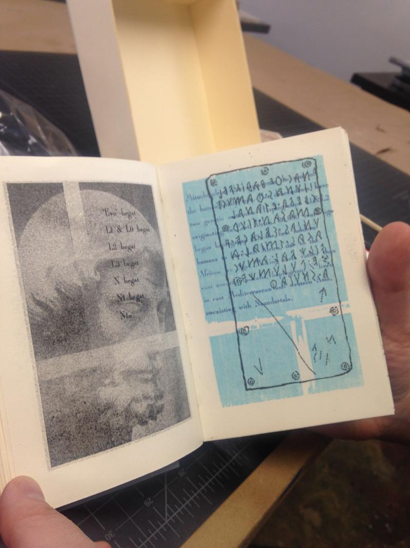 One mini-book printed at the VABC.