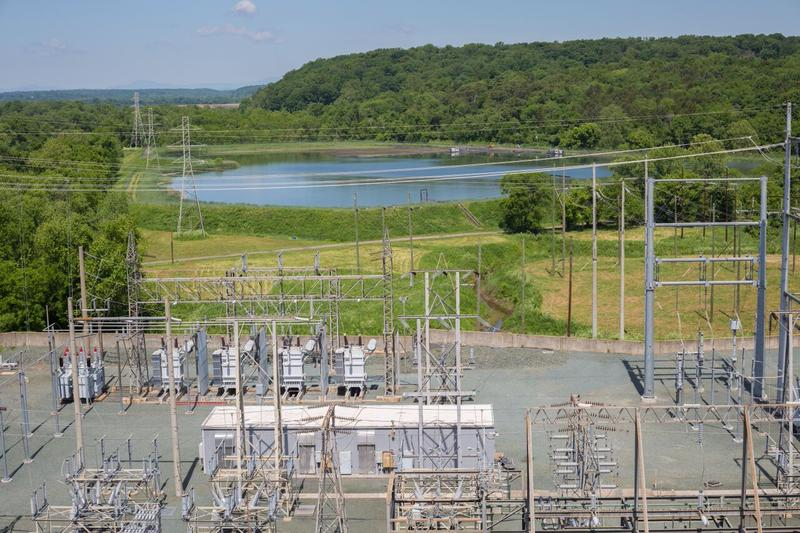 One of the Bremo Power Station's old coal ash ponds that will be drained in the coming year in compliance with new EPA regulations. The James River is about 75 meters to the left of the pond.