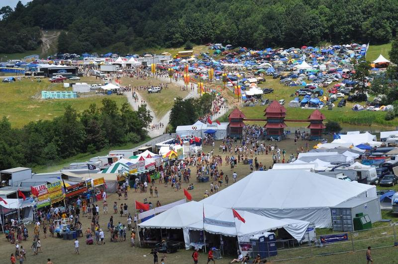 The grounds at the All Good Music Festival. This year the event is being held July 9-11 in Summit, West Virginia.