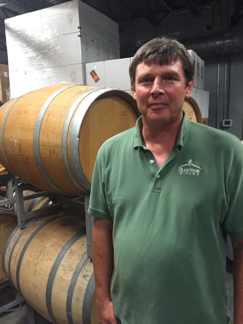 Jeff Sanders, owner of Glass House Winery