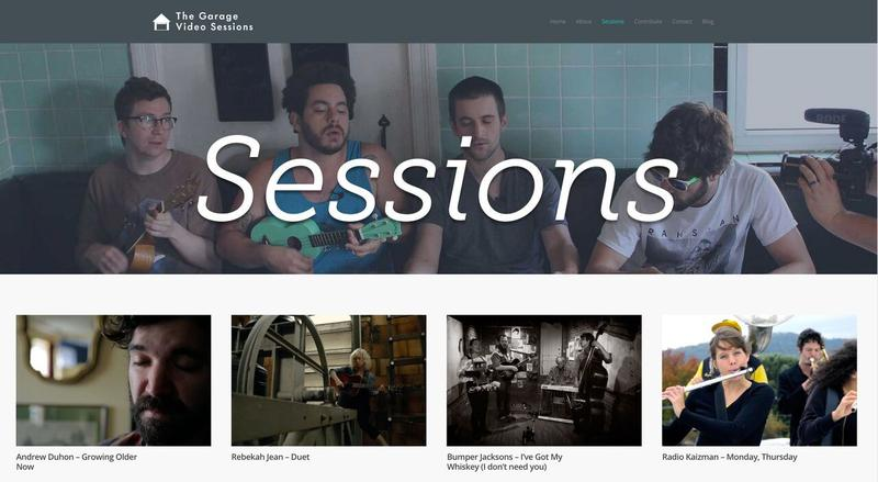 The Garage Video Sessions website currently hosts about 25 performance videos filmed by the Pandos.