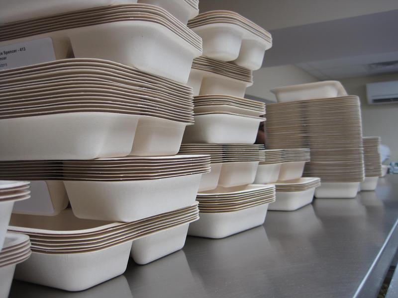 Nearly 300 meals are prepared in the basement of the Meals on Wheels headquarters.