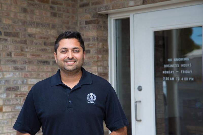 Harsit Patel, the Business Services Manager for the City of Harrisonburg.