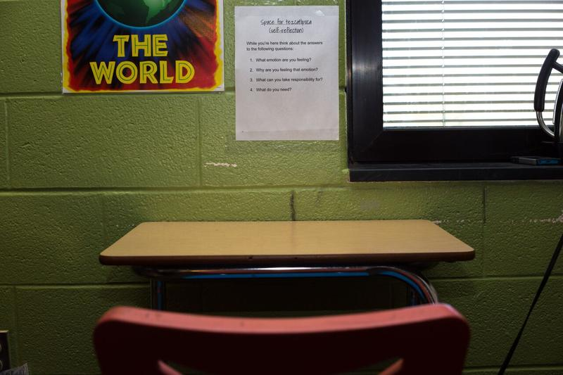 A space in Allison Eanes' classroom for students to go when they are feeling emotionally out of control.