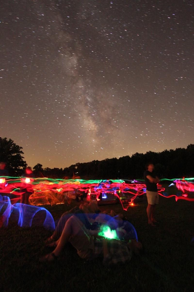 The stars and glow sticks were burning bright at last year's star party.