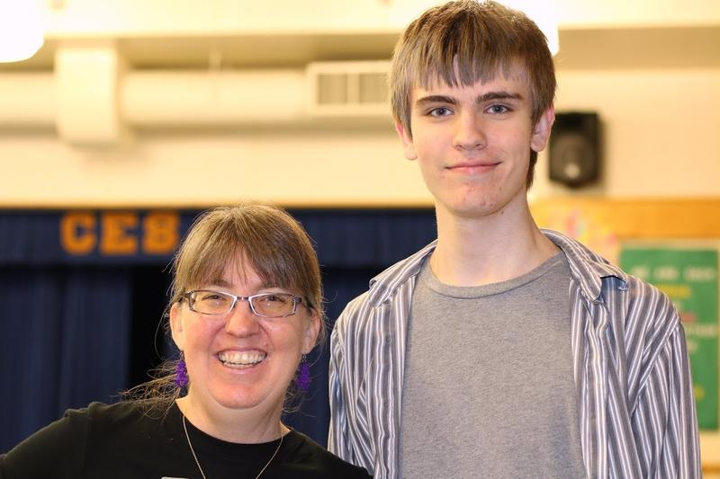 Kim Wilkens is the founder of a group called Tech Girls, and also helps organize the Girls' Geek Day events. Her son Xander Herrick serves as a mentor during some of the events.