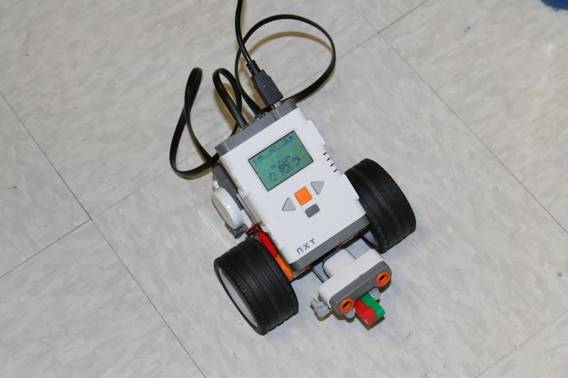 One of the many activities offered during Girls' Geek Day is NXT Robotics, during which girls — from kindergarten to 5th grade — learn to program this robot.