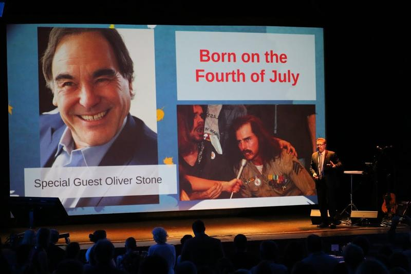 "Academy Award-winning director Oliver Stone will be in town to re-introduce his epic war film ""Born on the 4th of July"" starring Tom Cruise."