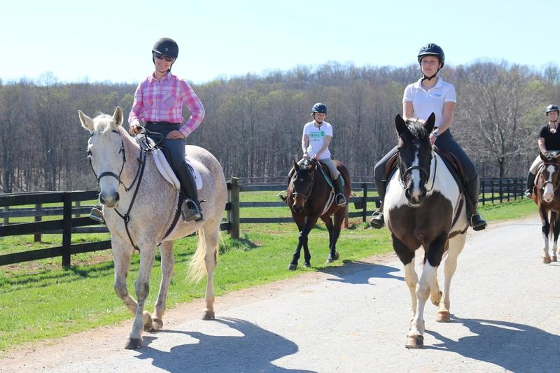 Many Sweet Briar students take advantage of the college's horseback riding program. There's plenty of room to ride on the 3,250 acre campus.