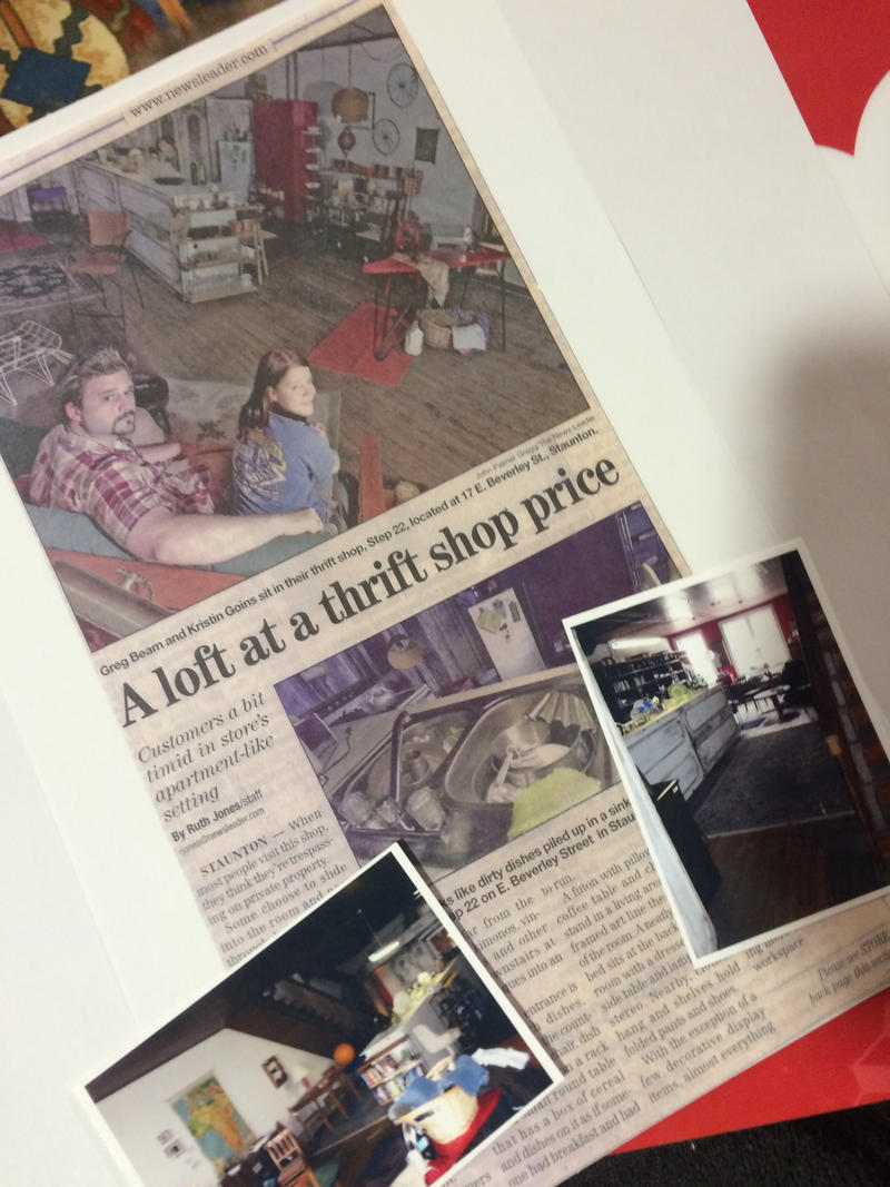 A 2005 News Leader story about Greg Beam and Kristin Gaffney's vintage shop, Step 22 (now closed) is an example of the type of memorabilia digitized and recorded for Staunton Stories.