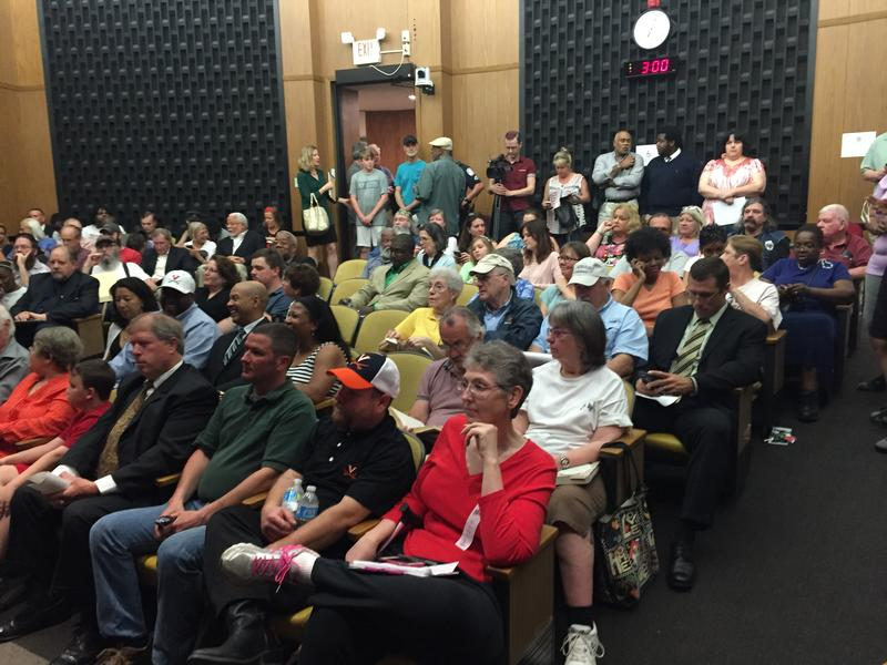 Standing Room only in city council chambers