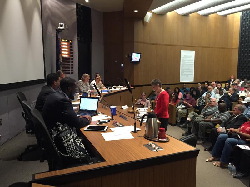 Teresa Kay Lam speaks in front of council