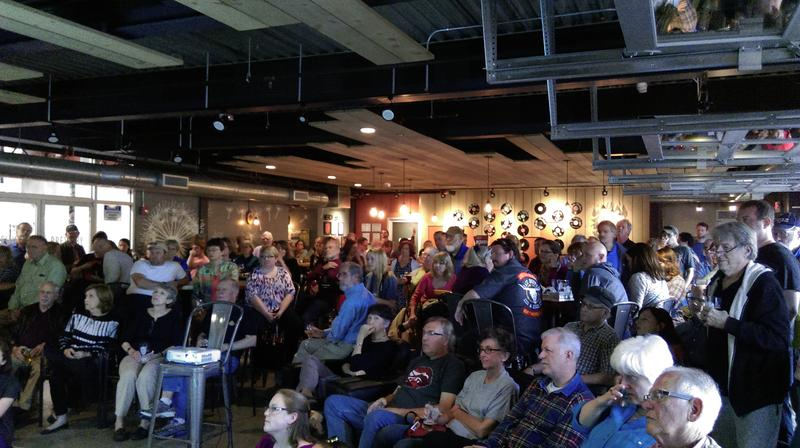 The May 2016 crowd for Books and Brews (at Pale Fire Brewing Co.)