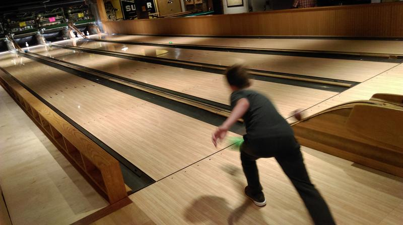 Duck Pin Bowling at Ruby's Arcade