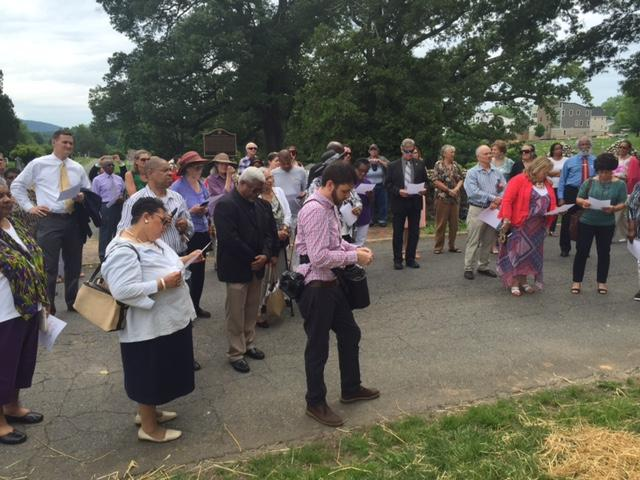 A crowd gathered on Memorial Day weekend to mark the cemetery's rededication.
