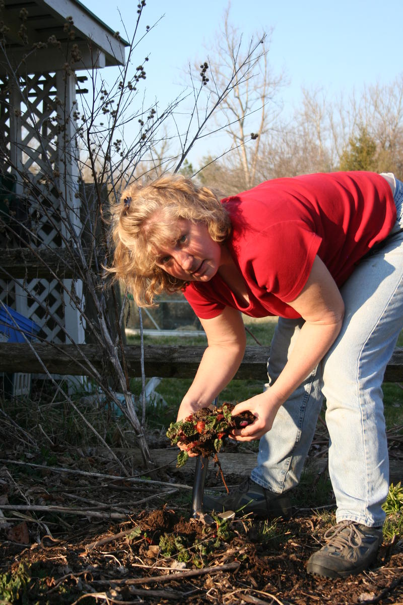 Mary in the Vegetable Garden
