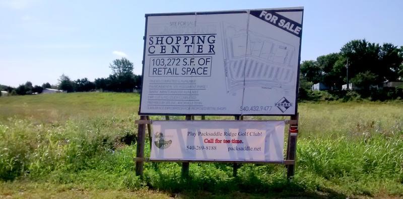 Developer Bruce Forbes' land awaiting sale and development.