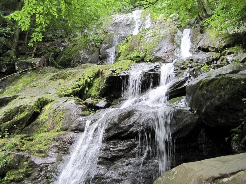 Dark Hollow Falls is one of the most popular trail hikes in Shenandoah National Park, and the site of artist-in-resident Dianne Ballon's first sound gathering expedition.