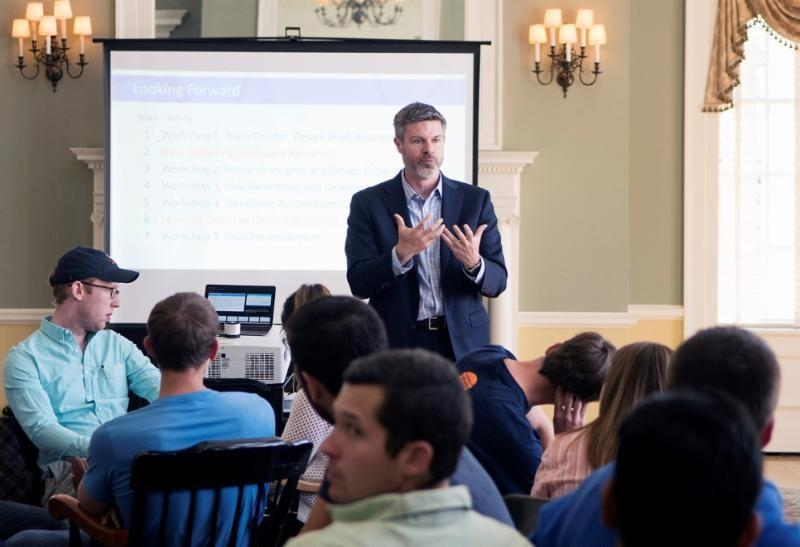 Professor Michael Lenox is one of five professors leading the inaugural IDEA course at UVA's Darden School of Business.