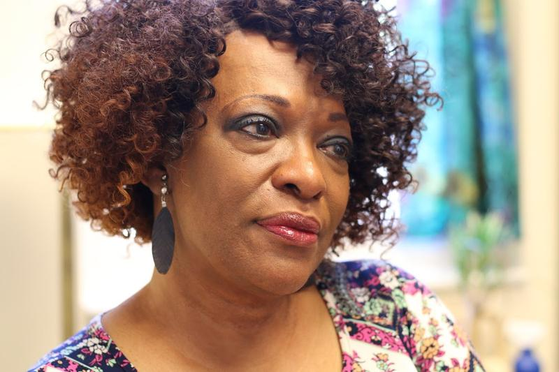 "Former Poet Laureate Rita Dove's poem ""Testimonial"" was selected for the mural."