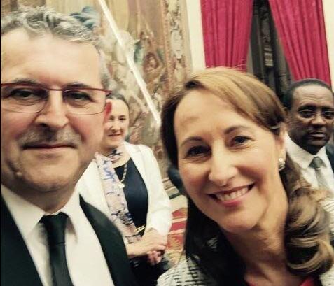 Mayor Thierry Bordot (with French Ecology Minister Segolene Royal)