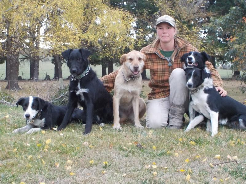 "Hillary ""Bill"" Clemmer and her dogs"