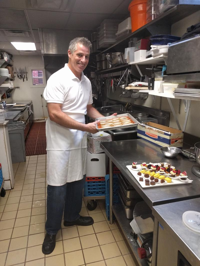 "Serge Torres is currently the pastry chef at Charlottesville's French restaurant ""Fleurie."" He worked at several restaurants as well as the French Embassy in New York, and in Nantucket Island; he also catered to the Washington D.C. and Richmond areas."