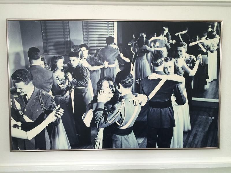 A large photo in the Admin Buildnig at Mary Baldwin captures campus life back in the day.