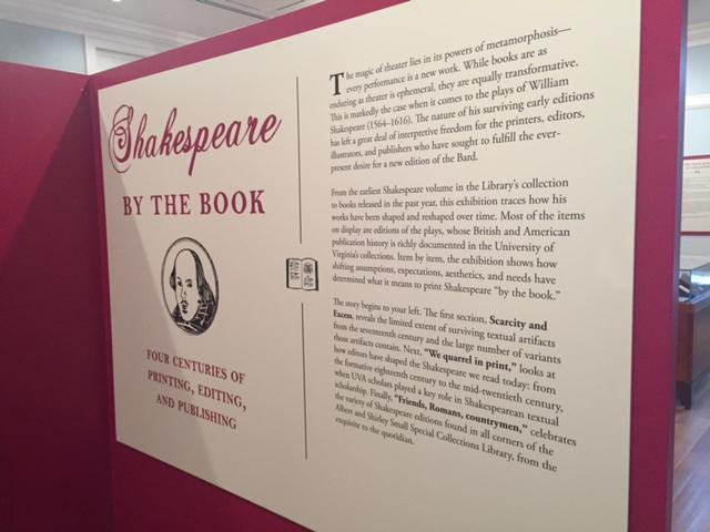UVa's complementary exhibit, Shakespeare: By the Book.