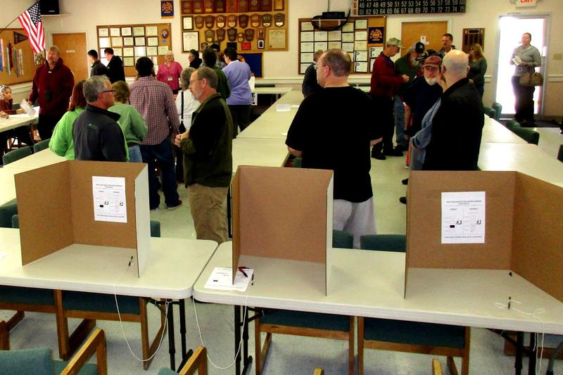 The Linville Edom Ruritan Hall was filled up as soon as the doors opened at 6:00am this morning, precinct chief Mary Sue McDonald said.