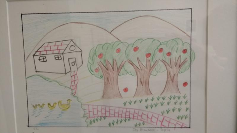 Ola Mansour's drawing of her grandparent's house in rural Syria.
