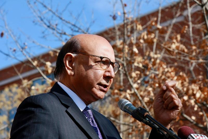 Charlottesville area resident, Muslim, and Gold Star parent Khizr Khan implored the crowd to stand with the local refugees and immigrants.