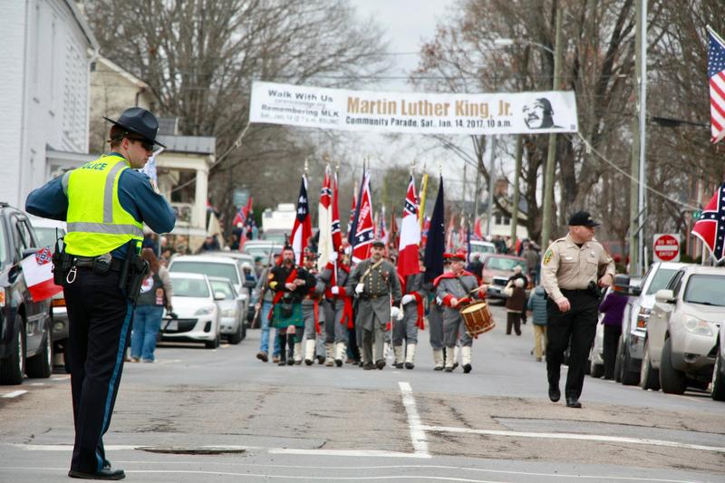 The Sons of Confederate Veterans marched down Main Street in Lexington for the 17th year in a row, celebrating Lee-Jackson Day.