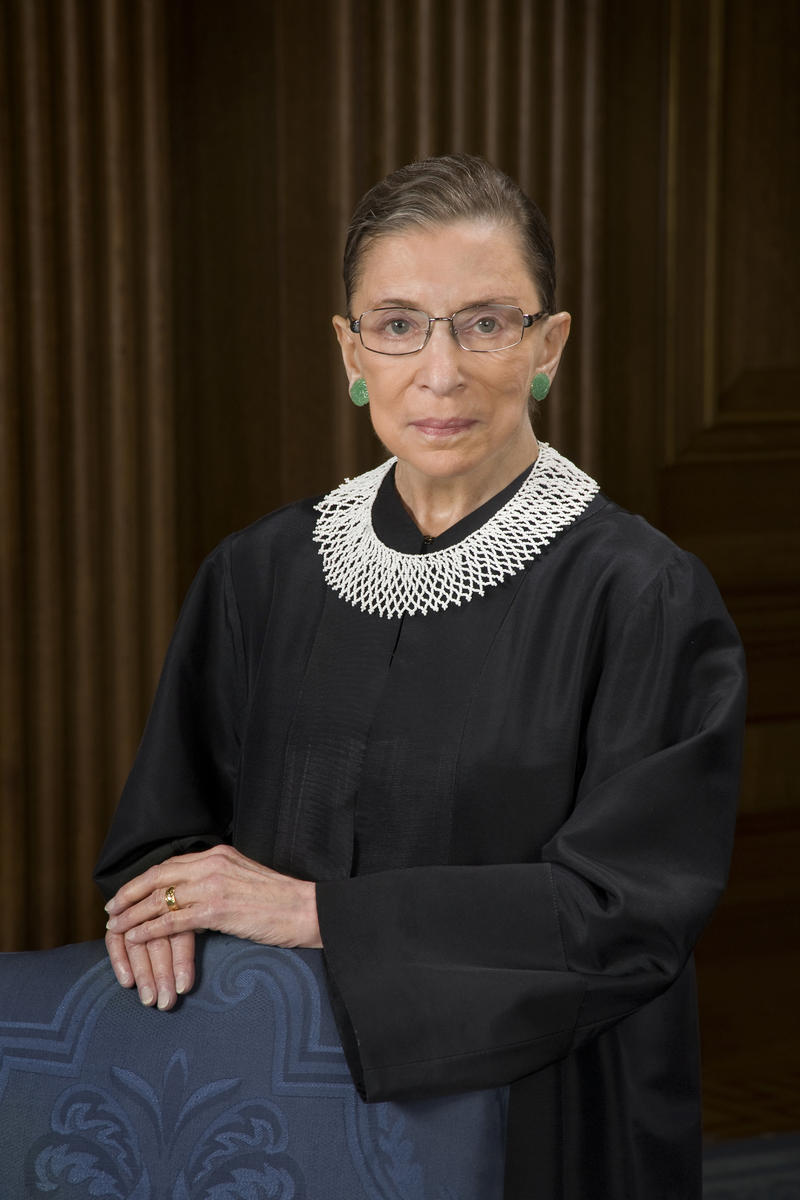 "Supreme Court Justice and feminist icon, Ruth Bader Ginsburg visits Virginia Military Institute, February 1. She wrote the majority opinion in the landmark case, ""United States v. Virginia,"" that made the 178 year old all-male military school go co-ed."