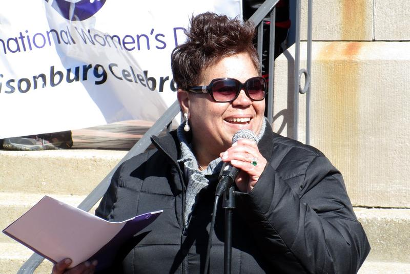 "Harrisonburg Mayor Deanna Reed thanked women ""for being bold for change."""
