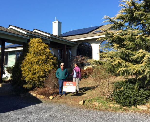 "According to vasun.org, ""Rappahannock County Solar Co-op members Bill and Aleta Gadino had a 7.3 kW system completed at the end of 2015."""