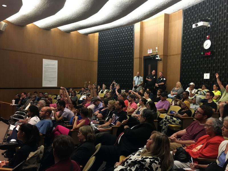 About 100 people attended Charlottesville's City Council meeting on Monday night, where councilors voted 5-0 to rename Lee and Jackson Parks, Emancipation and Justice Parks, respectively.