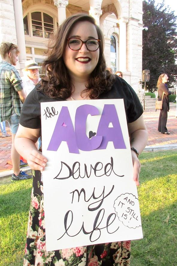Hannah Facknitz said that without the Affordable Care Act, her pre-existing conditions would prevent health insurance coverage.